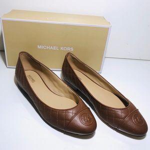 Michael Kors Lillie Flats Leather Size 8